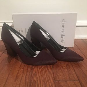 Charles David Mulberry Calf Hair Pumps